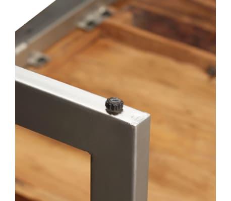 vidaXL Masă de bucătărie, lemn masiv de sheesham și oțel, 180 cm[8/14]