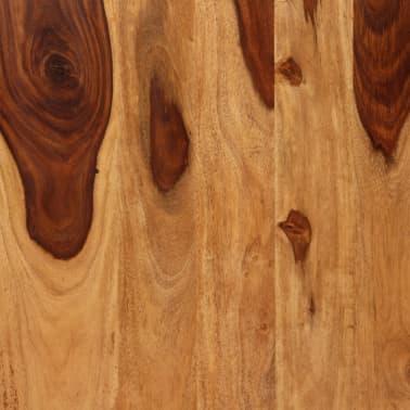 vidaXL Masă de bucătărie, lemn masiv de sheesham și oțel, 180 cm[7/14]