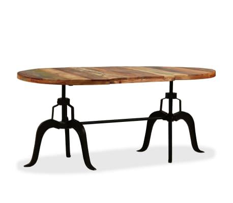 vidaXL Matbord massivt återvunnet trä och stål 180 cm