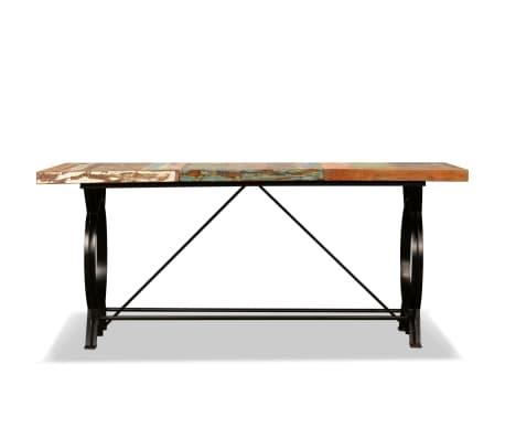 vidaXL Mesa de salón comedor de madera maciza reciclada 180 cm