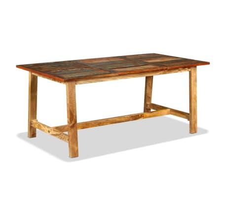 vidaXL Jídelní stůl z masivního recyklovaného dřeva 180 cm[11/11]
