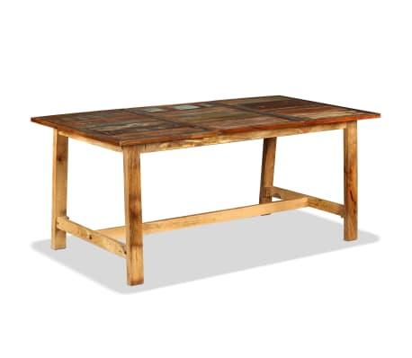 vidaXL Jídelní stůl z masivního recyklovaného dřeva 180 cm[9/11]