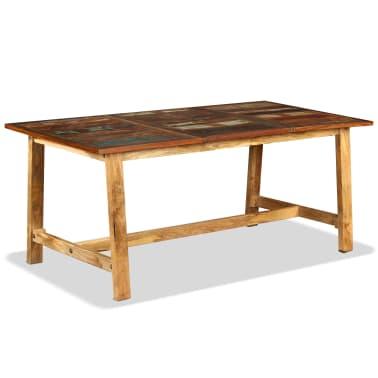 vidaXL Jídelní stůl z masivního recyklovaného dřeva 180 cm[7/11]
