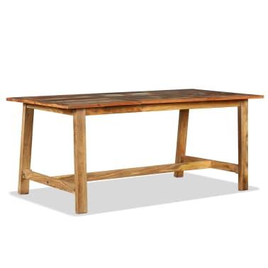 vidaXL Jídelní stůl z masivního recyklovaného dřeva 180 cm[8/11]