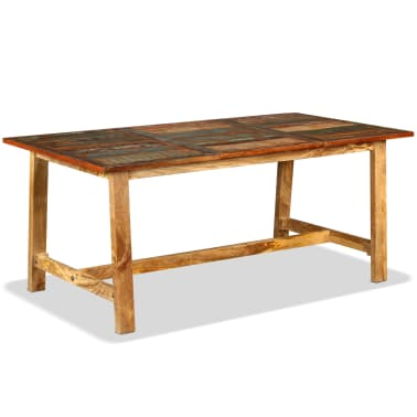 vidaXL Jídelní stůl z masivního recyklovaného dřeva 180 cm[10/11]