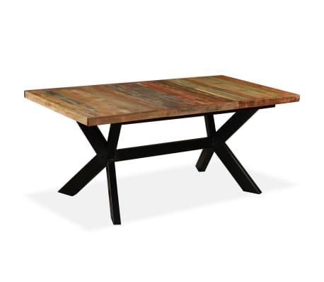 vidaXL Tavolo da Pranzo in Legno di Recupero e Acciaio a Croce 180 cm