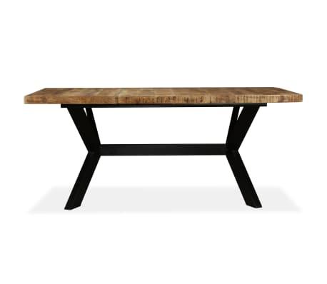 "vidaXL Dining Table Solid Mango Wood and Steel Cross 70.9""[2/14]"