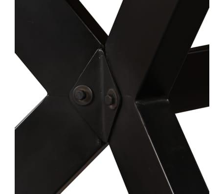 vidaXL Masă de bucătărie lemn masiv de mango și oțel 180 cm[3/14]
