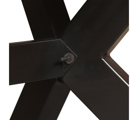 vidaXL Masă de bucătărie lemn masiv de mango și oțel 180 cm[4/14]