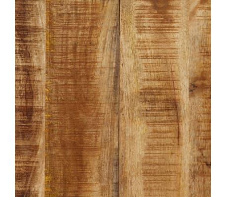 vidaXL Masă de bucătărie lemn masiv de mango și oțel 180 cm[6/14]