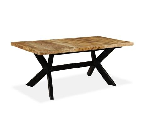 vidaXL Masă de bucătărie lemn masiv de mango și oțel 180 cm[8/14]