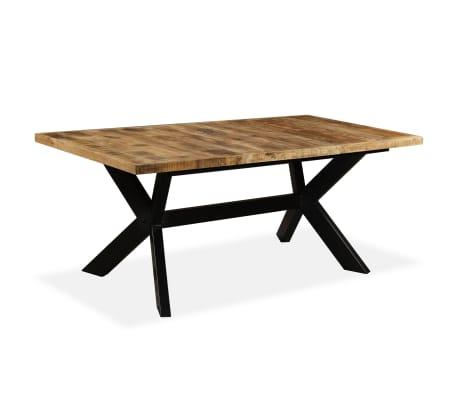 vidaXL Masă de bucătărie lemn masiv de mango și oțel 180 cm[10/14]