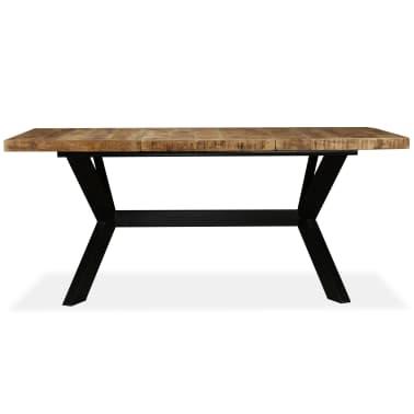 vidaXL Masă de bucătărie lemn masiv de mango și oțel 180 cm[2/14]