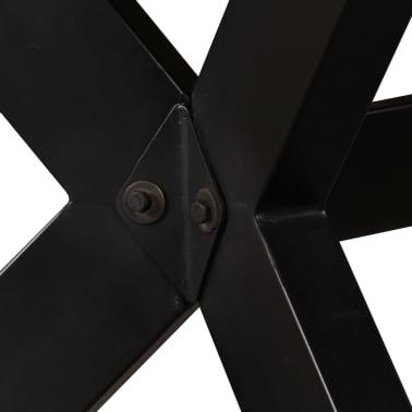 "vidaXL Dining Table Solid Mango Wood and Steel Cross 70.9""[3/14]"