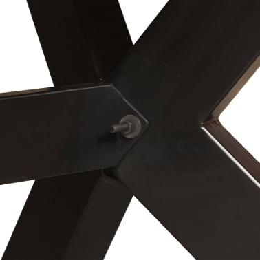 "vidaXL Dining Table Solid Mango Wood and Steel Cross 70.9""[4/14]"