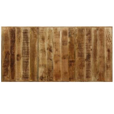 "vidaXL Dining Table Solid Mango Wood and Steel Cross 70.9""[5/14]"