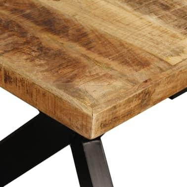 "vidaXL Dining Table Solid Mango Wood and Steel Cross 70.9""[7/14]"