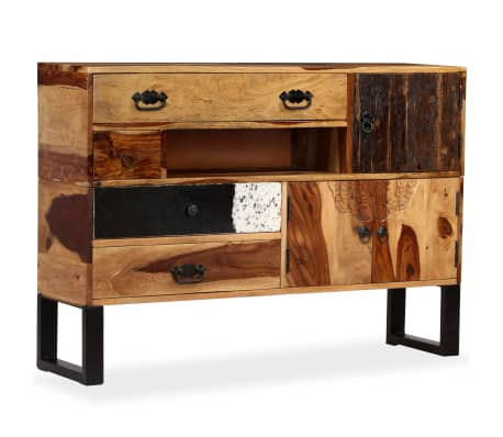 vidaxl sideboard sheesham holz massiv 115 x 30 x 80 cm g nstig kaufen. Black Bedroom Furniture Sets. Home Design Ideas