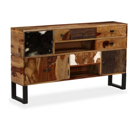 acheter vidaxl buffet bois massif de sesham 140 x 30 x 80 cm pas cher. Black Bedroom Furniture Sets. Home Design Ideas