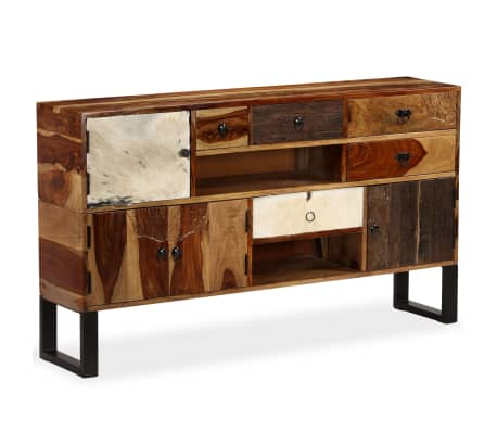 vidaXL Credenza in Legno Massello di Sheesham 140x30x80 cm | vidaXL.it