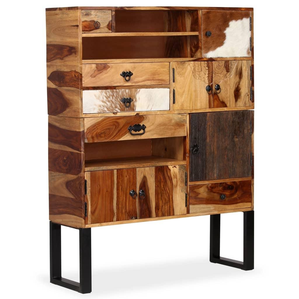 vidaXL Dressoir 100x30x130 cm massief sheesham hout
