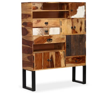 vidaXL Sideboard Sheesham-Holz Massiv 100 x 30 x 130 cm[1/14]