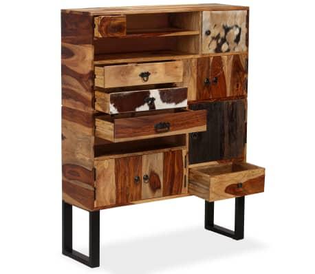 vidaXL Sideboard Sheesham-Holz Massiv 100 x 30 x 130 cm[2/14]