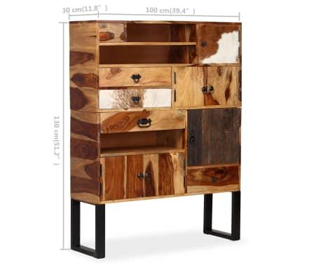 vidaXL Sideboard Sheesham-Holz Massiv 100 x 30 x 130 cm[9/14]