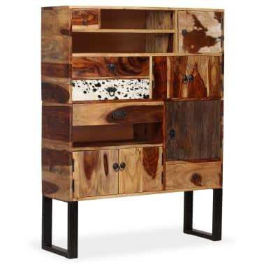 vidaXL Sideboard Sheesham-Holz Massiv 100 x 30 x 130 cm[11/14]