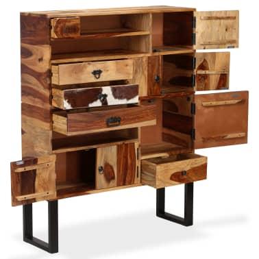 vidaXL Sideboard Sheesham-Holz Massiv 100 x 30 x 130 cm[3/14]
