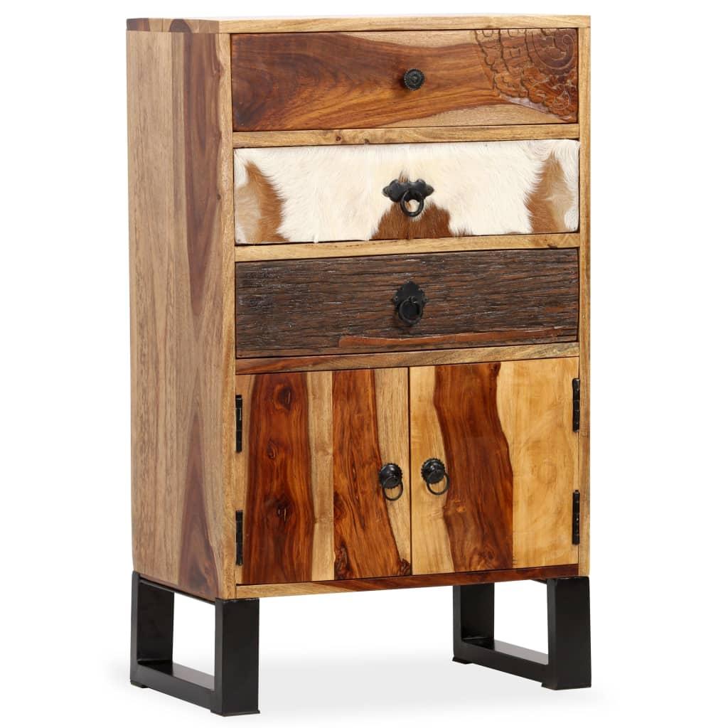 vidaXL Dressoir 50x30x86 cm massief sheesham hout