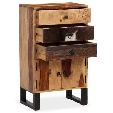 vidaXL Spintelė, masyvi rausvosios dalbergijos mediena, 50x30x86cm[3/14]