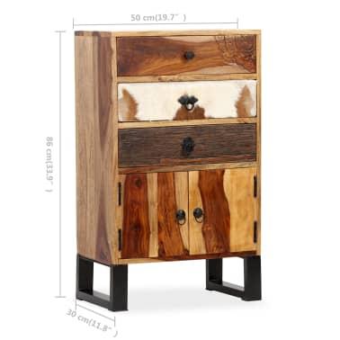 vidaXL Spintelė, masyvi rausvosios dalbergijos mediena, 50x30x86cm[10/14]