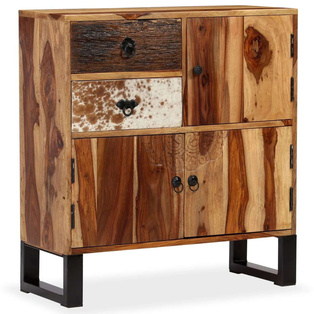 vidaXL Dressoir 70x30x80 cm massief sheesham hout