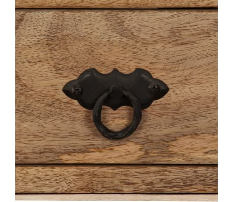 acheter vidaxl buffet bois massif de manguier 100 x 30 x 130 cm pas cher. Black Bedroom Furniture Sets. Home Design Ideas