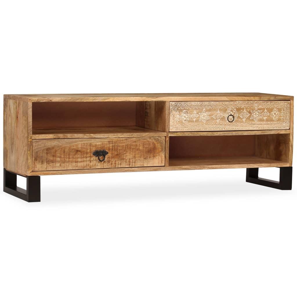 vidaXL Comodă TV, 120 x 30 x 40 cm, lemn masiv de mango poza 2021 vidaXL