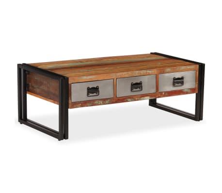 vidaXL Konferenční stolek s 3 zásuvkami recyklované dřevo 100x50x35 cm[1/16]