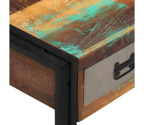 vidaXL Kavos staliukas su 3 stalčiais, perdirbta mediena, 100x50x35 cm[5/16]