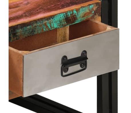 vidaXL Kavos staliukas su 3 stalčiais, perdirbta mediena, 100x50x35 cm[7/16]