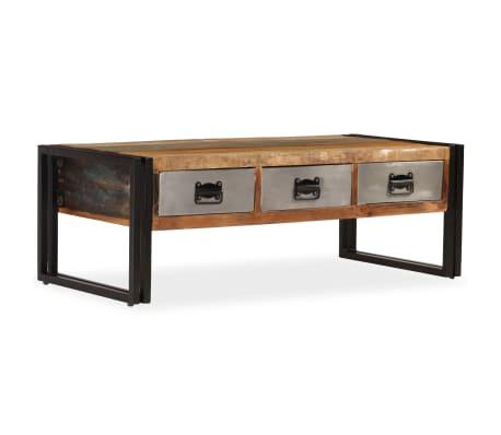 vidaXL Kavos staliukas su 3 stalčiais, perdirbta mediena, 100x50x35 cm[10/16]