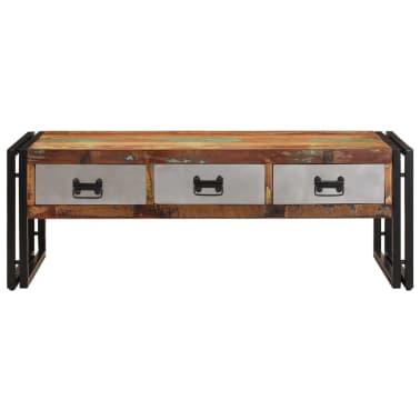 vidaXL Konferenční stolek s 3 zásuvkami recyklované dřevo 100x50x35 cm[3/16]
