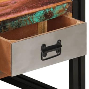 vidaXL Konferenční stolek s 3 zásuvkami recyklované dřevo 100x50x35 cm[7/16]