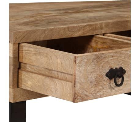 vidaXL Kavos staliukas su 3 stalčiais, mango mediena, 90x50x35 cm[6/15]