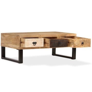 vidaXL Kavos staliukas su 3 stalčiais, mango mediena, 90x50x35 cm[2/15]
