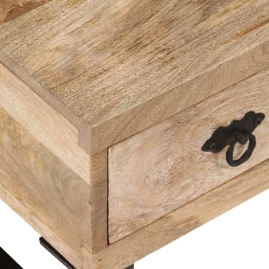 vidaXL Kavos staliukas su 3 stalčiais, mango mediena, 90x50x35 cm[4/15]