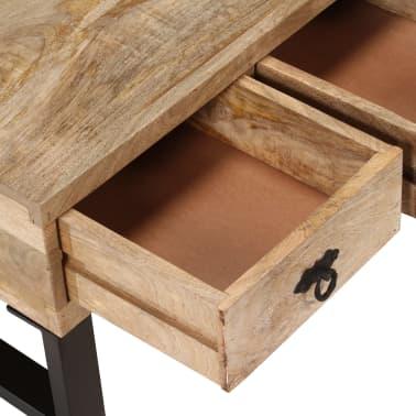 vidaXL Kavos staliukas su 3 stalčiais, mango mediena, 90x50x35 cm[7/15]