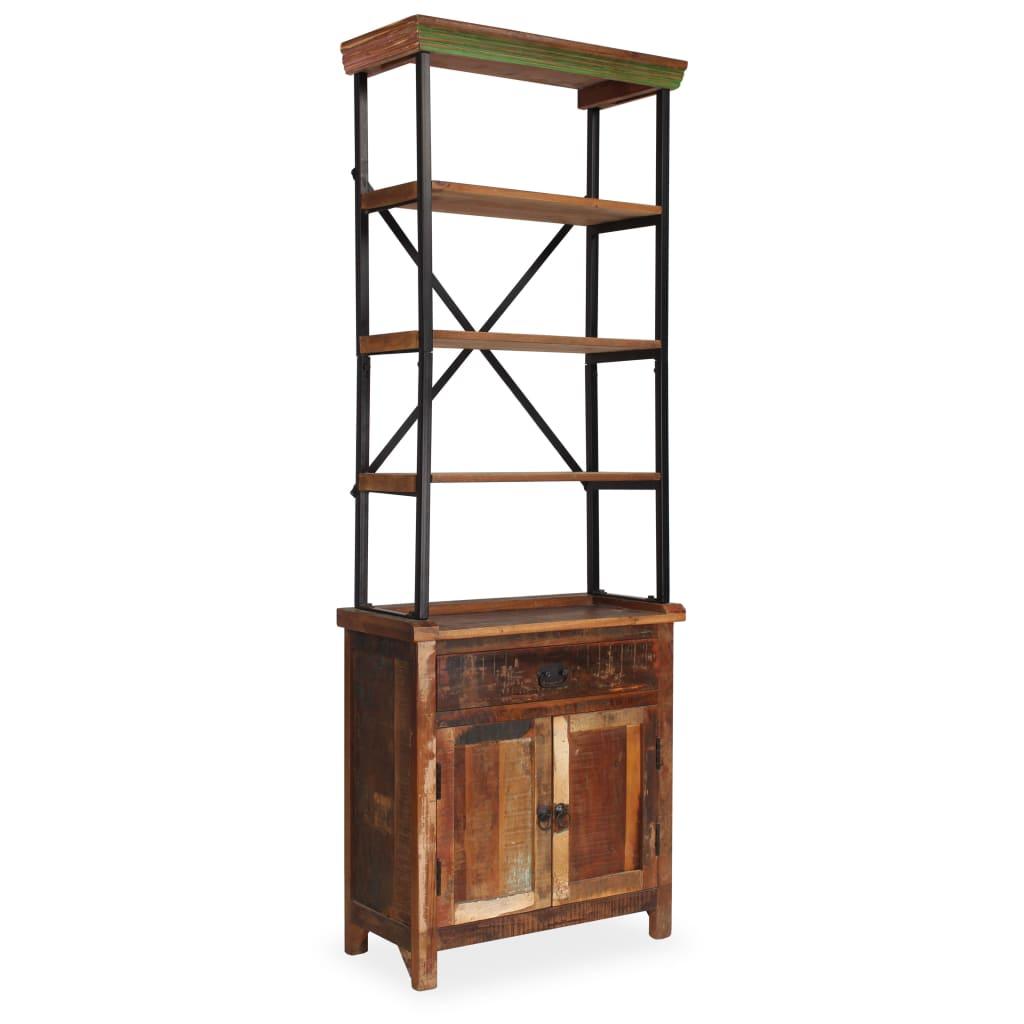 vidaXL Příborník s poličkami masivní recyklované dřevo 65x30x180 cm