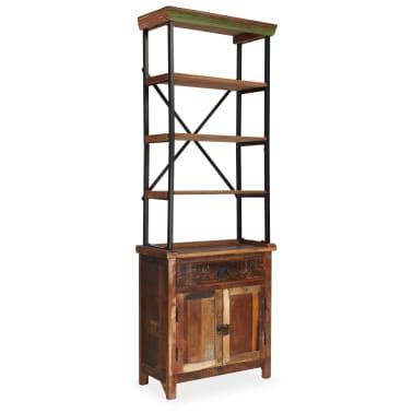 vidaXL Šoninė spintelė su lentynomis, perdirbta mediena, 65x30x180 cm[1/15]