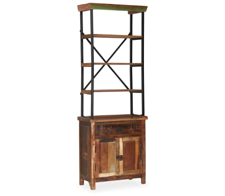 vidaXL Šoninė spintelė su lentynomis, perdirbta mediena, 65x30x180 cm[12/15]