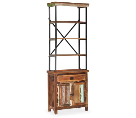 vidaXL Šoninė spintelė su lentynomis, perdirbta mediena, 65x30x180 cm[13/15]